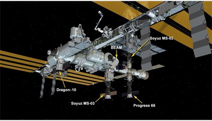 Cuatro naves coinciden en la Estación Espacial Internacional