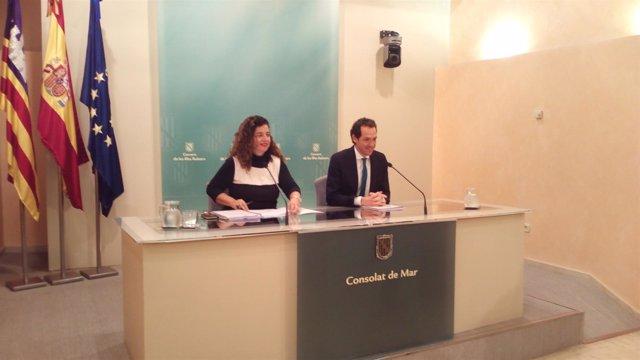 Costa y Pons tras el Consell de Govern