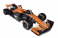 McLaren tenyeix de taronja el nou MCL32 i extrema el missatge de prudència per al 2017 (MCLAREN)