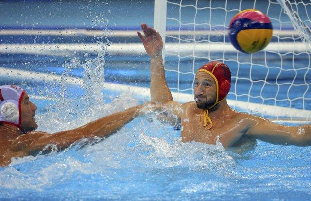 Dani López, portero de la selección española de waterpolo