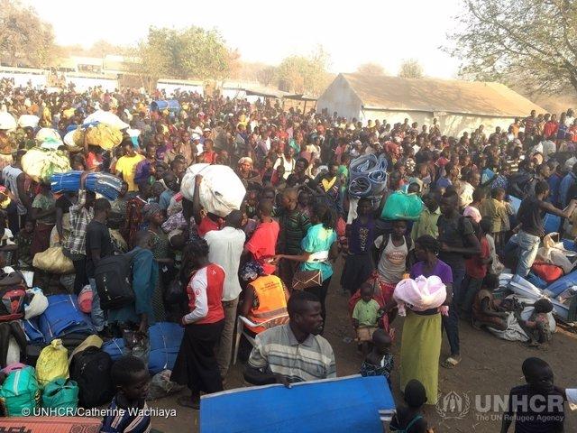 Refugiados sursudaneses en Palorinya (Uganda)