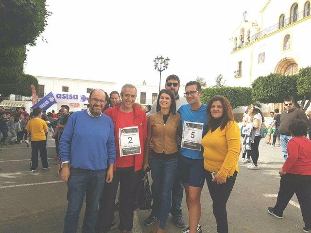 La diputada de Deportes se ha sumado a la carrera del IES Ciudad de Dalías.