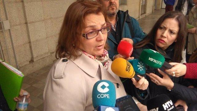 La presidenta de la plataforma 'Por una sanidad digna', Paloma Hergueta.
