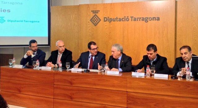 El conseller Jordi Jané y el pte.De la Diputación de Tarragona Josep Poblet