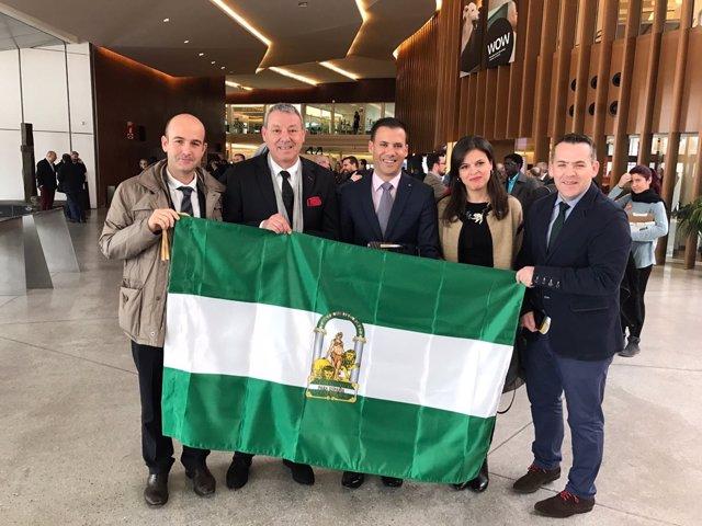Bandera de Andalucía para la Naviera Armas
