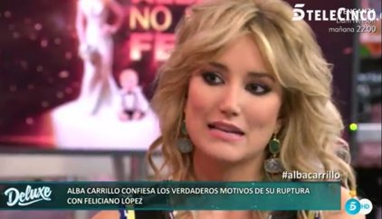 """Alba Carrillo: """"Estuve ingresada en la clínica Lopez Ibor, Feliciano López no lo sabe"""""""