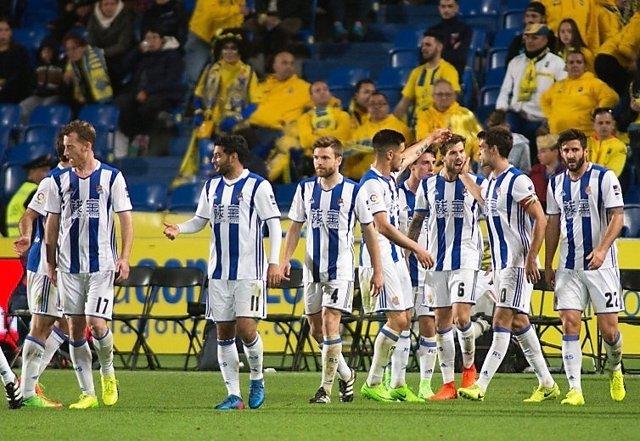 La Real Sociedad vence a Las Palmas en la Liga Santander
