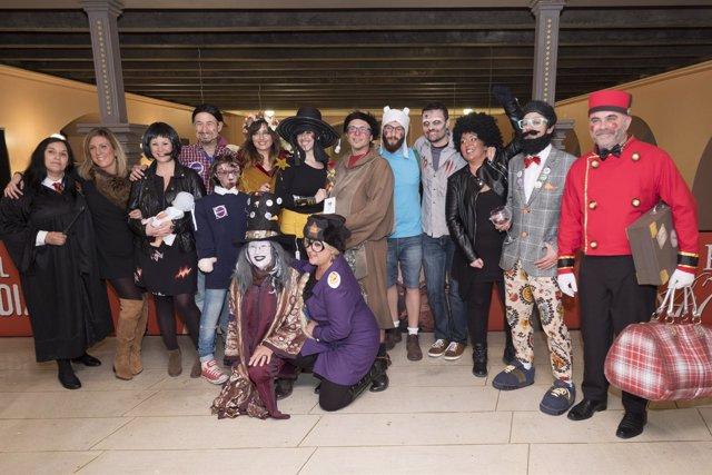 Participantes en la final del concurso de agrupaciones del Carnaval de Cádiz