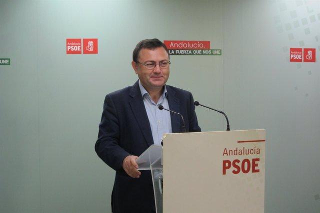 Heredia rueda de prensa sede PSOE Málaga