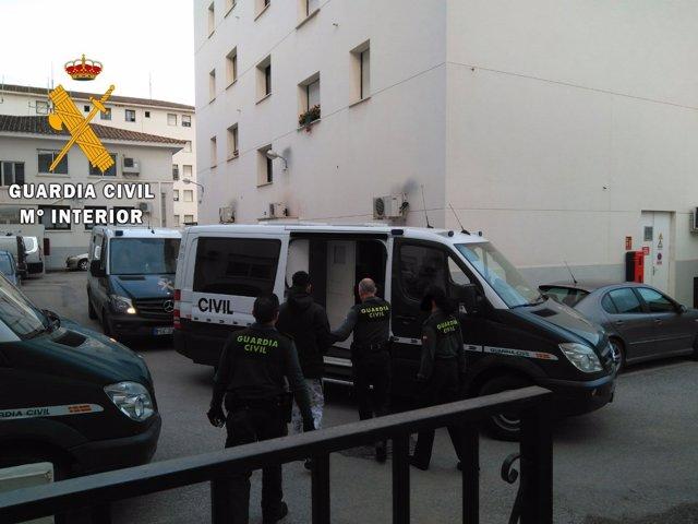 Algeciras.- Traslado de uno de los detenidos