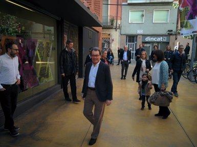 """AMP.- Mas assegura que el PDeCAT és incòmode perquè """"sense ell no hi haurà Estat català"""" (EUROPA PRESS)"""
