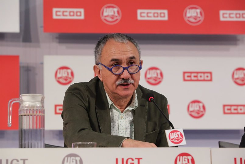 """Álvarez (UGT) afirma que no hay avances en el diálogo social porque """"no hay negociación"""" con el Gobierno"""