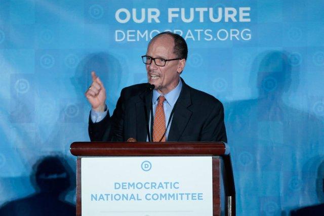 El presidente del Comité Nacional Demócrata, Tom Perez