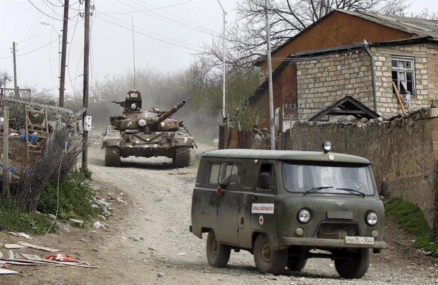 Fuerzas de la autoproclamada república de Nagorno-Karabaj