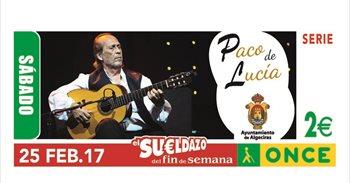 El cupón de la ONCE dedicado a Paco de Lucía reparte 360.000 euros en...