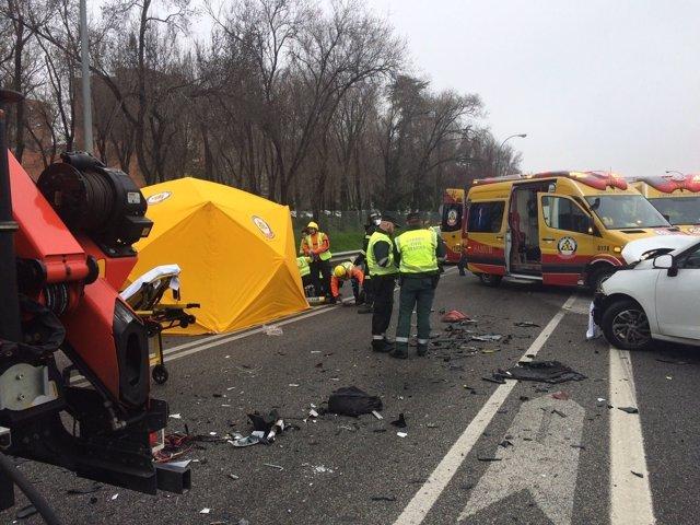 Imagen del accidente de tráfico
