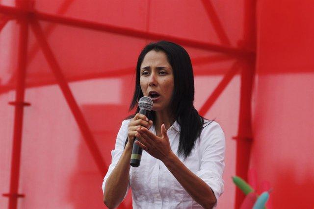 La primera dama de Perú, Nadine Heredia.