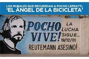 FOTOS/ Los murales que recuerdan a Pocho Lepratti, 'El ángel de la bicicleta'