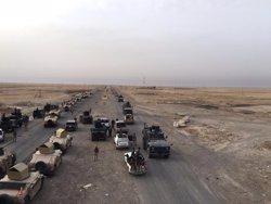 Les forces d'Iraq arrabassen a Estat Islàmic una àrea situada al sud de la ciutat de Mossul (MINISTERIO DE DEFENSA IRAK)