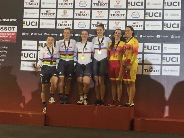 Tania Calvo Helena Casas Copa Mundo ciclismo pista Cali