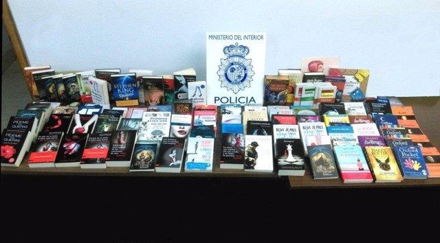 Libros intervenidos a los detenidos