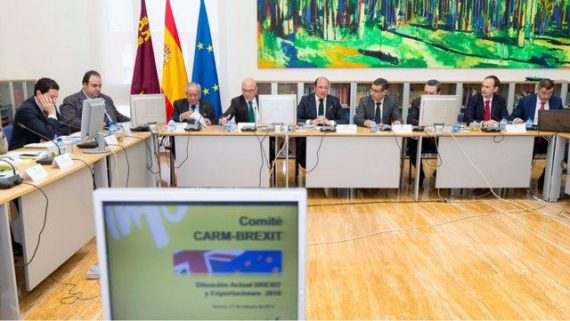 Sánchez preside la reunión del Comité Asesor CARM-Brexit