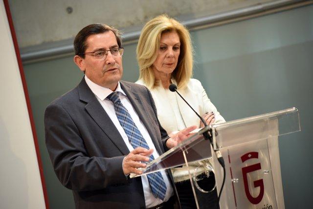 José Entrena y María José López en comparecencia informativa