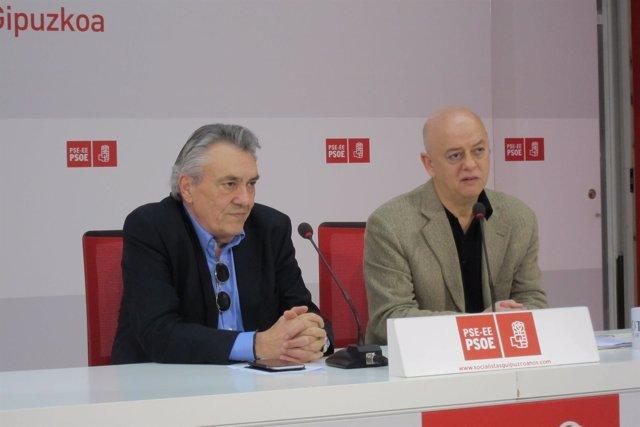 Manu Escudero y Odón Elorza