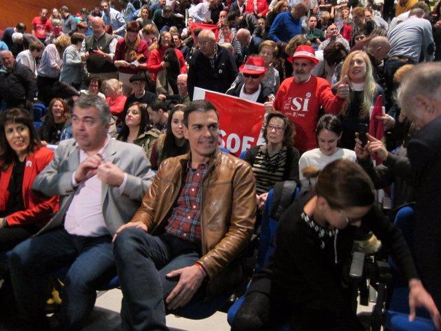 400 simpatizantes se unen a la Plataforma de apoyo a Pedro Sánchez en Baleares para 'luchar hasta el final'