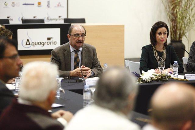 Lambán y Ladrero en la constitución del Consejo Socioeconómico de Ejea