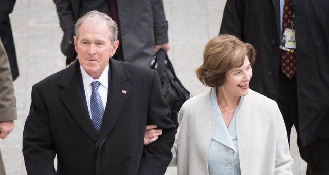 George W. Bush y su mujer, Laura