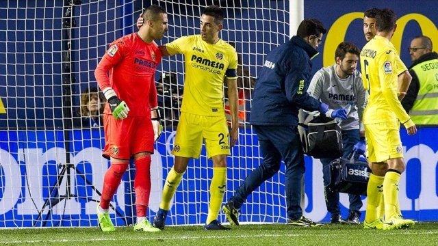 Sergio Asenjo se rompe el ligamento cruzado anterior de su rodilla izquierda