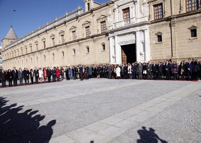 Acto institucional en el Parlamento andaluz en 2016 con motivo del 28F