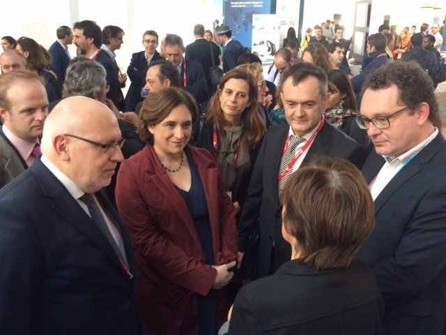J.Baiget, A.Colau, J.M.Leceta y A.Valls