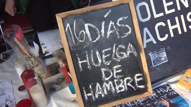 Víctimas de violencia machista siguen en huelga de hambre