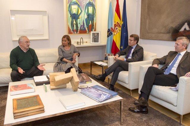 Reunión entre Feijóo y Carmela Silva