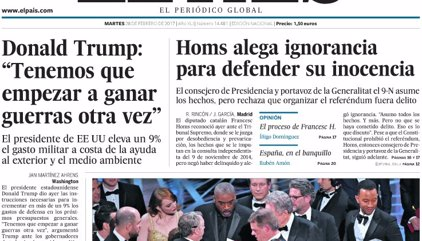 Las portadas de los periódicos de hoy, martes 28 de febrero de 2017