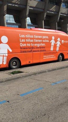 Autobús de la campaña de Hazte Oír