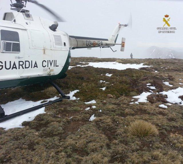León: Helicóptero der rescate de la Guardia Civil