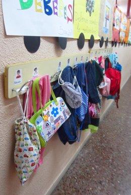 Aula, infantil, colegio, material escolar, alumnos