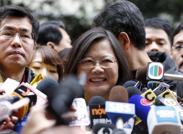 La candidata del PPD a la Presidencia de Taiwán, Tsai Ing Wen