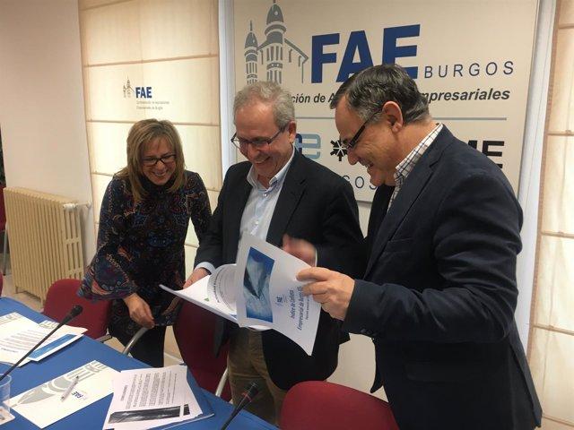 BURGOS. Rueda de prensa de FAE con Emiliana Molero, Ignacio San Millán