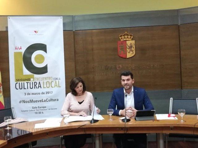 Presentación de II Encuentro de Cultura Local en Cáceres