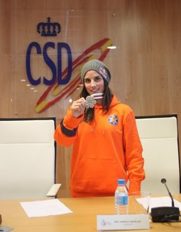 Queralt Castellet en la sede del Consejo Superior de Deportes (CSD)
