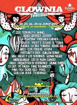 Cartel del festival Clownia 2017