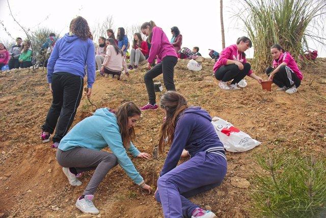 Huétor Tájar Organiza Una Plantación Masiva De Árboles En Un Antiguo Vertedero