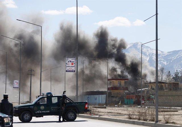 Atentado talibán en Kabul