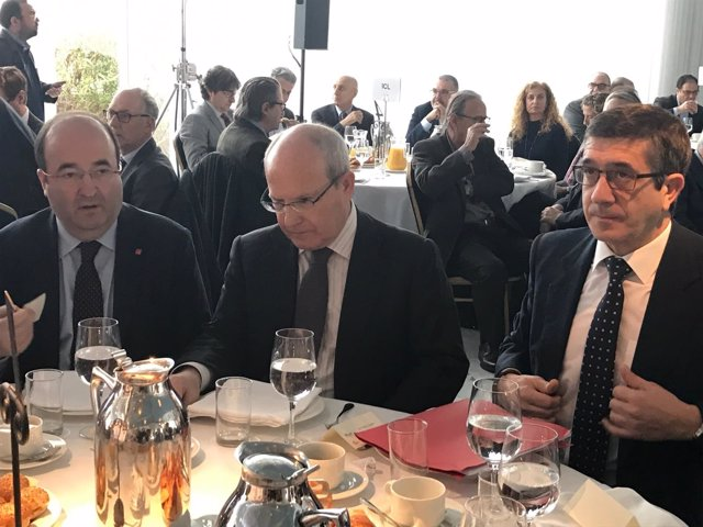 Miquel Iceta, José Montilla (PSC) Patxi López (PSOE)