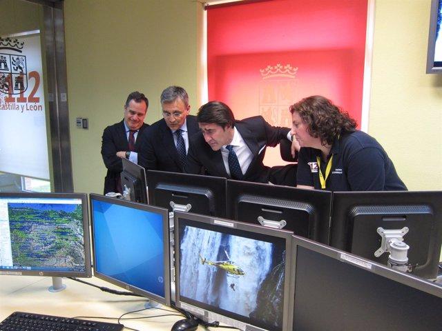 Suárez-Quiñones en el Centro Coordinador de Emergencias del 112