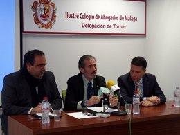 Inicio jornadas comarcales Javier Lara Félix Lozano Óscar Medina